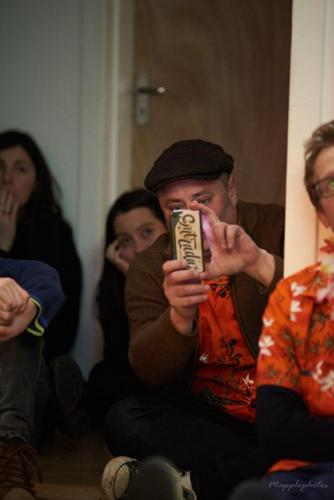 Rafa takes a picture of me during the event Psychonauts